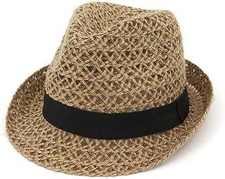 Melodycp Sombrero de Paja para Mujer Sombrero de Sol Fedora de ala Corta de Verano para Mujer y Hombre Sombreros de Viaje de Playa