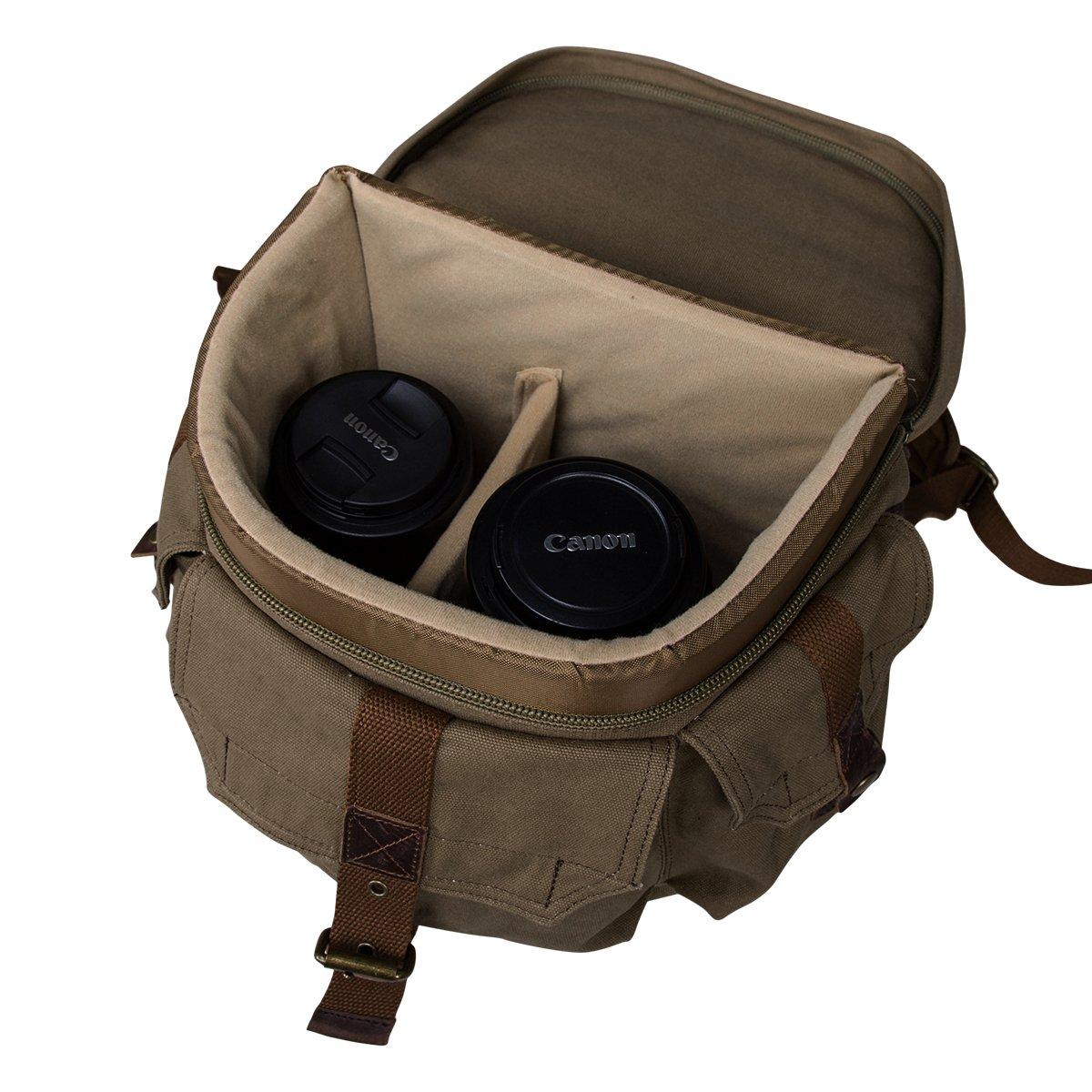 Sparta Adventure Backpack Bag For Olympus PEN E P5 and Mini Tripod PEN E PL5 PEN E PM2 E PL7 Digital Camera and Screen Protector x2