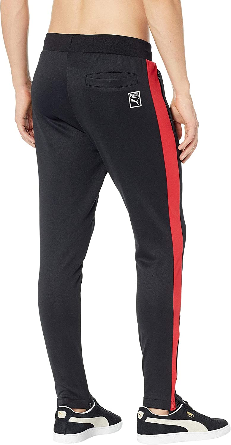 65a85341f563 PUMA Men s T7 Vintage Track Pants Puma Black Ribbon Red X-Large 33   Amazon.co.uk  Clothing