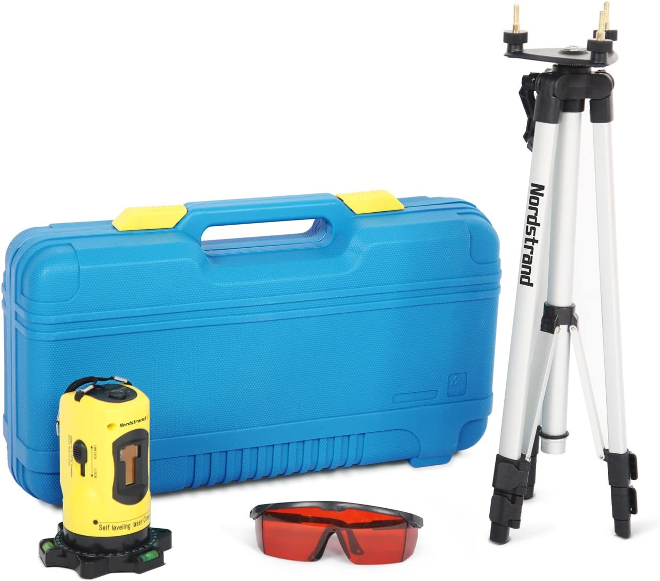 Nordstrand CL01 Automatic Self Levelling Cross Line Laser Level - Tripod and Accessories