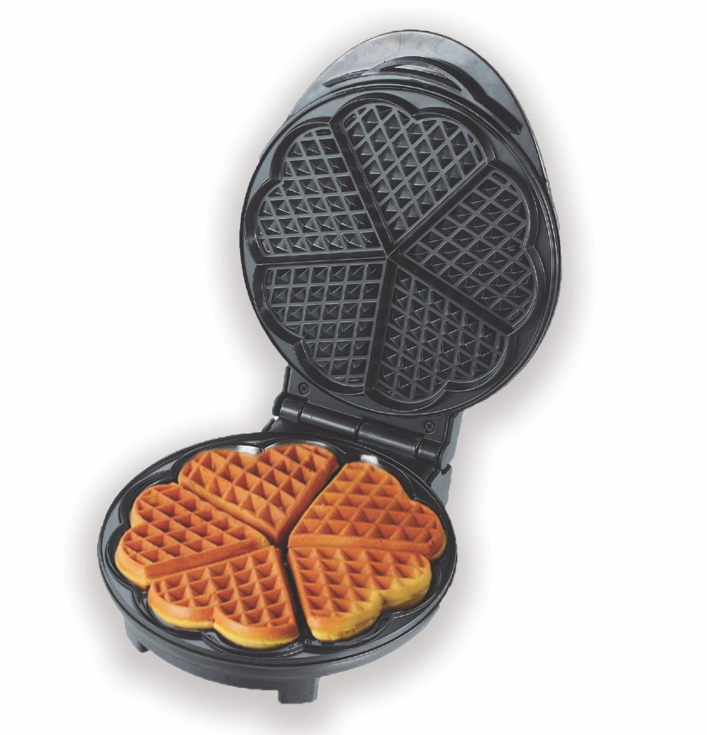 Eco+Chef Portable Heart Shaped Non-Stick Belgian Waffle Maker | Temperature Adjustable Small Kitchen Appliance