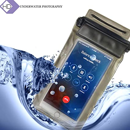 hot sale online 7bbaf f2ef5 NGX Technology Waterproof Sealed Transparent Bag with Luminous Underwater  Pouch Phone Case for iPhone/Samsung/HTC(Black, Pink, Blue and Orange)
