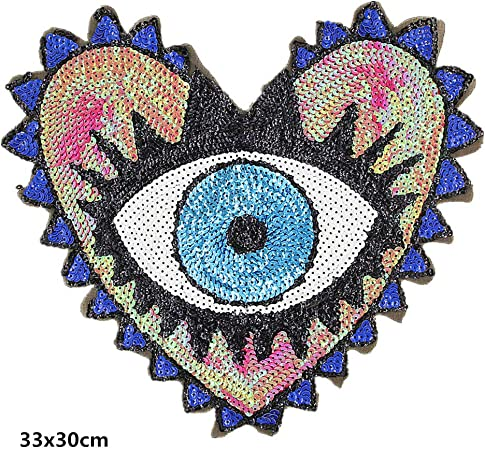 "écusson ECUSSON PATCH PATCHE THERMOCOLLANT /"" L/' OEIL /"" DIMENSIONS  8 X 7 CM"