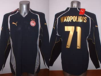 Puma Olympiakos Grecia NIKOPOLIDIS Adulto Grande Siemens Camiseta Jersey fútbol Olympiacos Griego Vintage de Portero GK: Amazon.es: Deportes y aire libre