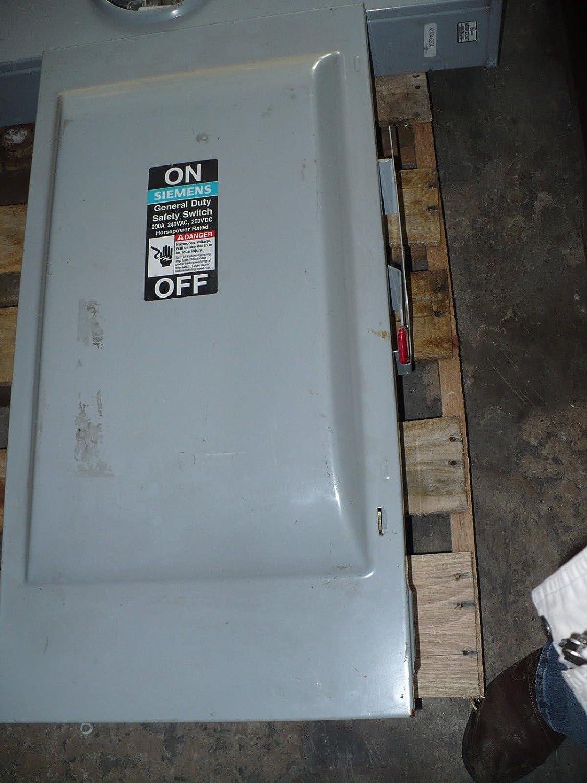 SIEMENS GF324N 200 Amp, 3 Pole, 240-Volt, 4 Wire, Fused, General ...