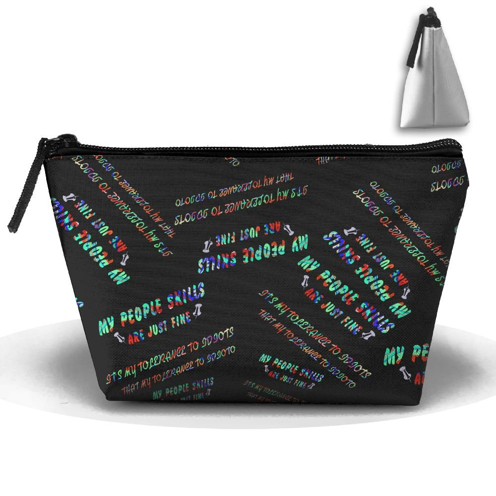 My People Skills Are Fine Cosmetic Bag Handbag/Wrist Bag/Clutch Bag/Cell Phone Bag/ Ladies Purse by A65sa Cosmetic Bags (Image #1)