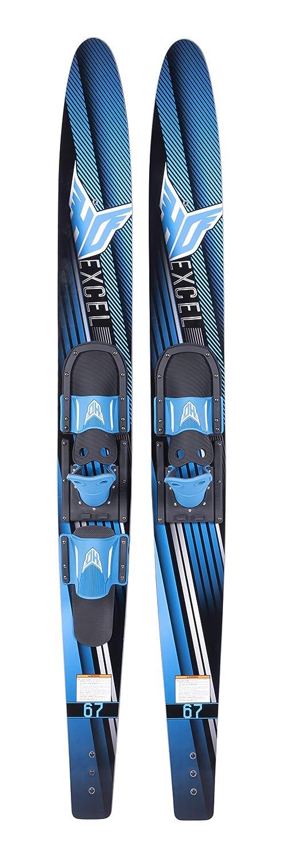 HO Sports Excel Combo Water Skis with Horseshoe Bindings