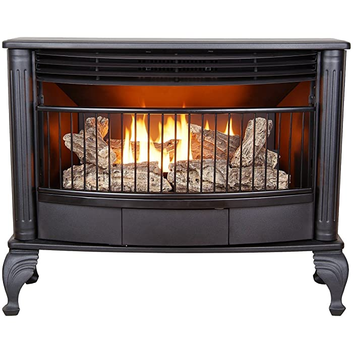ProCom Ventless Dual Fuel Stove - 25,000 BTU, Model QNSD250T, Black