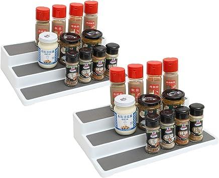 YCH Especiero para Cocina Organizador de Especias Estante de Condimento Independiente de 3 Niveles Antideslizante para Despensa de Cocina Estanter/ía para condimentos