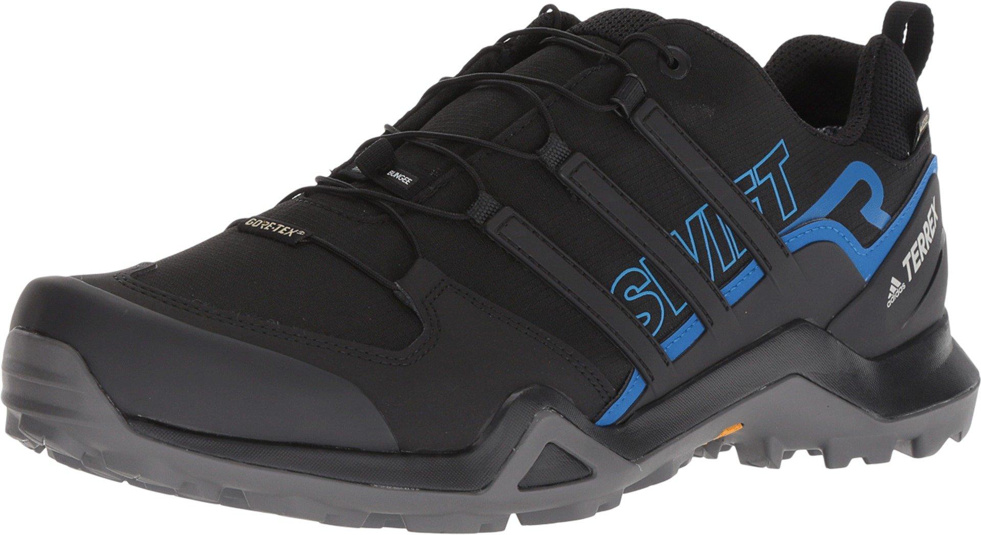 adidas outdoor Men's Terrex Swift R2 GTX¿ Black/Black/Bright Blue 9 D US