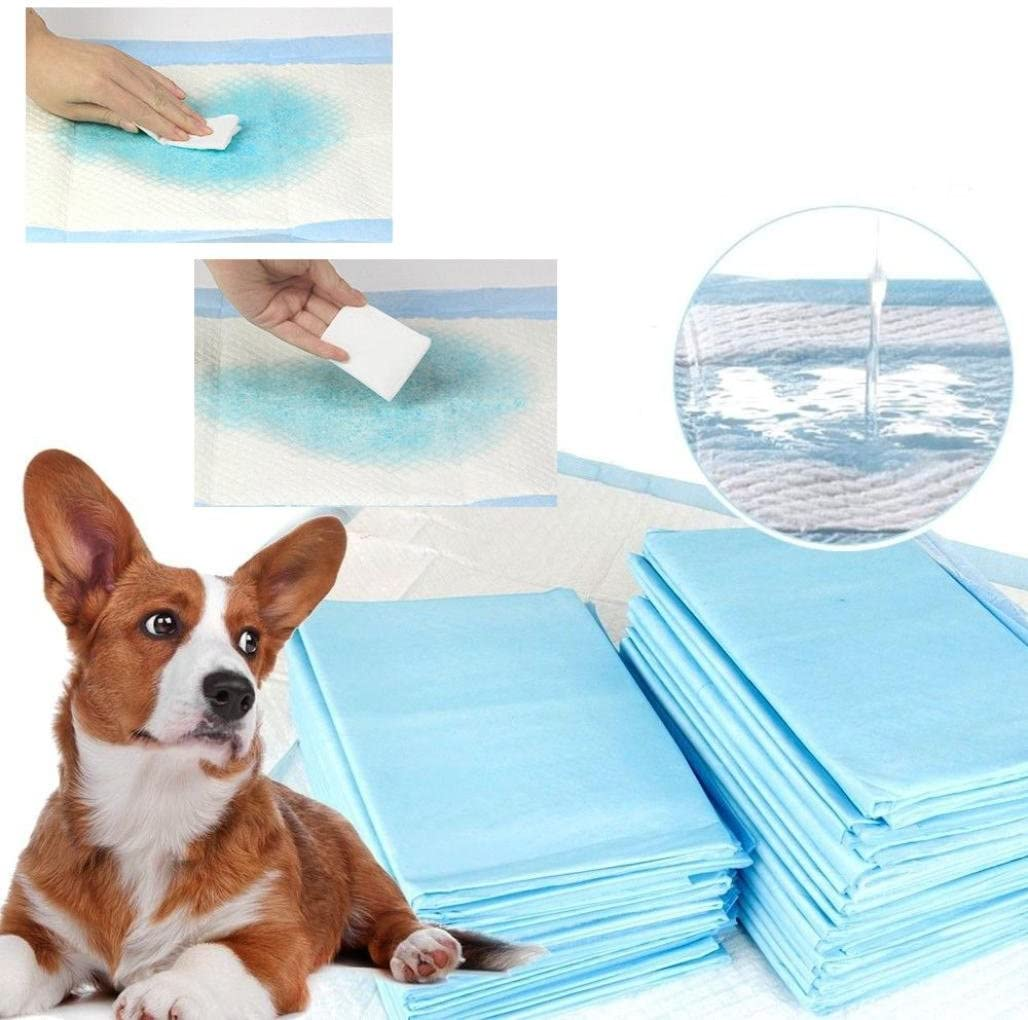 IGEMY Dog and Puppy Training Pads 60 Pcs Super Absorbent Puppy Training Pads Thickening Pets Diapers Pet Indoor Toilet Training Pad Pads Absorbent Puppy Mat