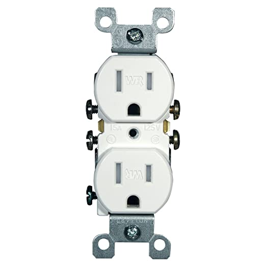 Leviton W5320-T0W 15 Amp, 125 Volt, Weather and Tamper Resistant ...
