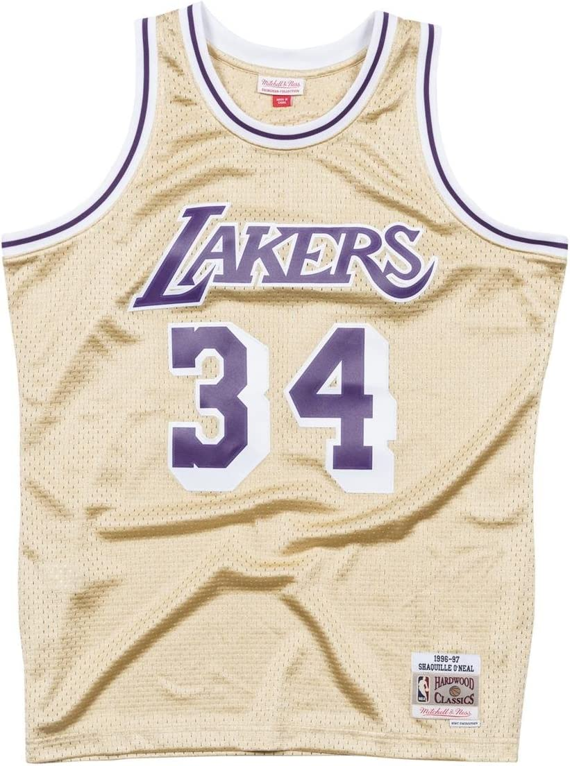 Mitchell /& Ness Los Angeles Lakers Trikot Shaquille ONeal Swingman Jersey blau