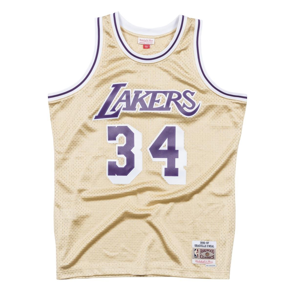 Mitchell & Ness NBA Los Angeles Lakers Shaquille O'Neal 1996-97 Swingman Jersey Gold Large