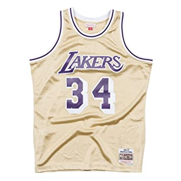 Mitchell   Ness NBA Los Angeles Lakers Shaquille O Neal 1996-97 Swingman  Jersey f4244a8da