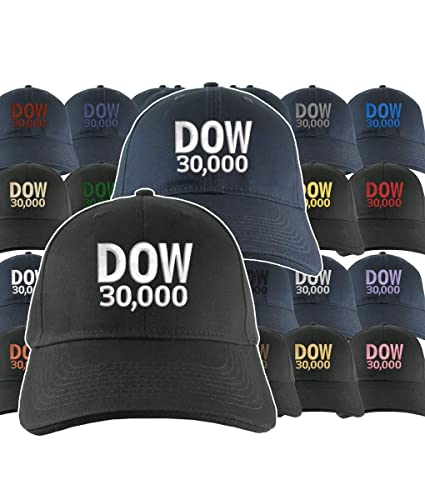 70f1aee7 Amazon.com: NYSE Hat Dow 30000 Stock Broker Custom Embroidery Adjustable  Navy or Black Soft Structured Classic Baseball Cap + Personalization  Options: ...