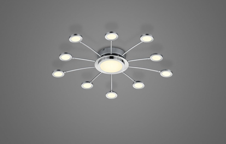 Nickel Matt Integriert 65 x 65 x 8 cm Trio Leuchten LED Deckenleuchte Metall 2.1 W