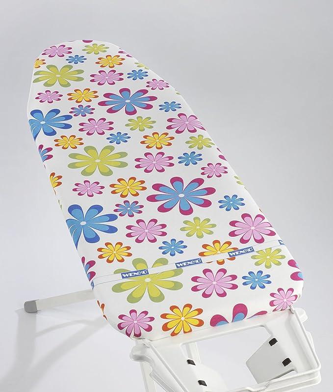 Wenko Housse de Repassage 125x 45cm FLOWER Fleurs Multicolore Housse pour Table à Repasser