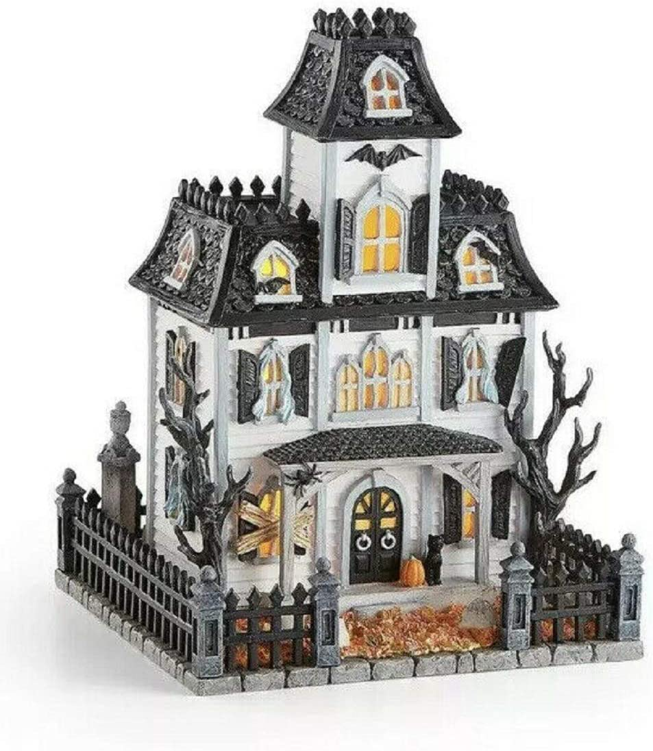Lenox Halloween Lighted Haunted Mansion House with Sound