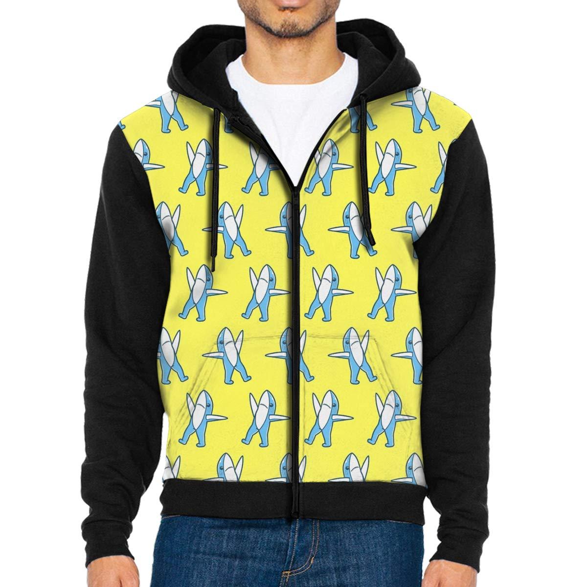 Mens Pullover Hood Shark Dance Zip Hoodies Hooded Popular Jackets Coats