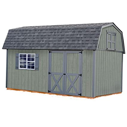 amazon com best barns elm 10 ft x 16 ft wood storage shed kit