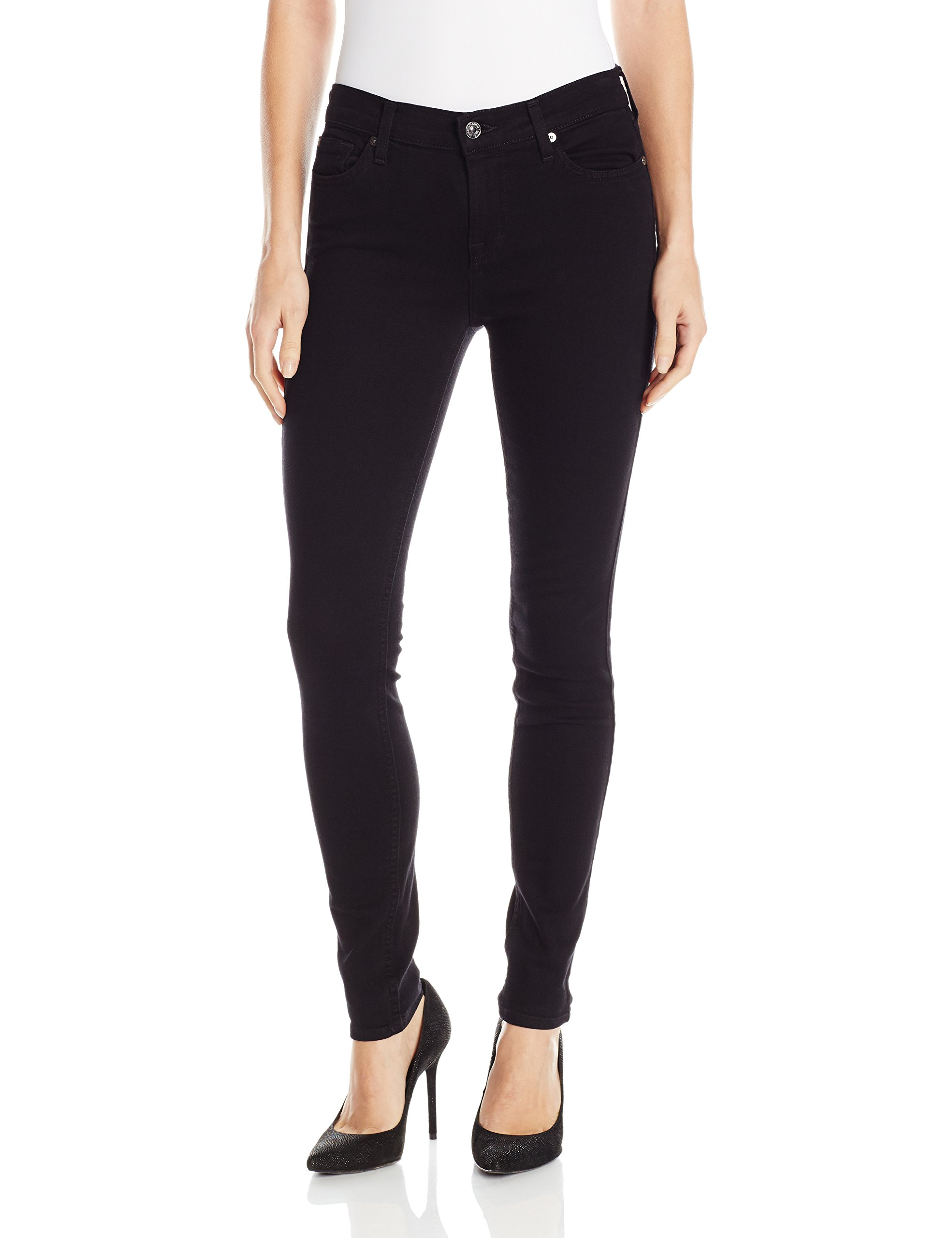 7 For All Mankind Women's The Skinny Jean, Washed Overdyed Black, 29