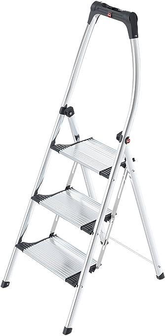 Hailo 4303-301 Taburete plegable LivingStep Confort Plus 3 pasos, aluminio: Amazon.es: Hogar