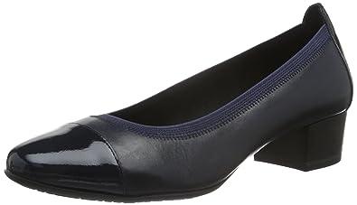 Marco Tozzi Premio 22302, Zapatos de Tacón para Mujer, Azul (Navy Antic COM 820), 39 EU