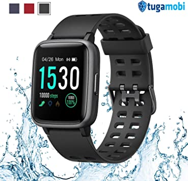 tugamobi Smart Band SB501, Fitness Activity Step Tracker Health Exercise Smartwatch Pedometer Heart Rate Sleep Monitor 5ATM Waterproof Calorie Alarm ...