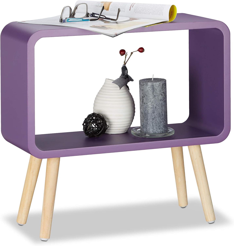 Mesita minimalista violeta