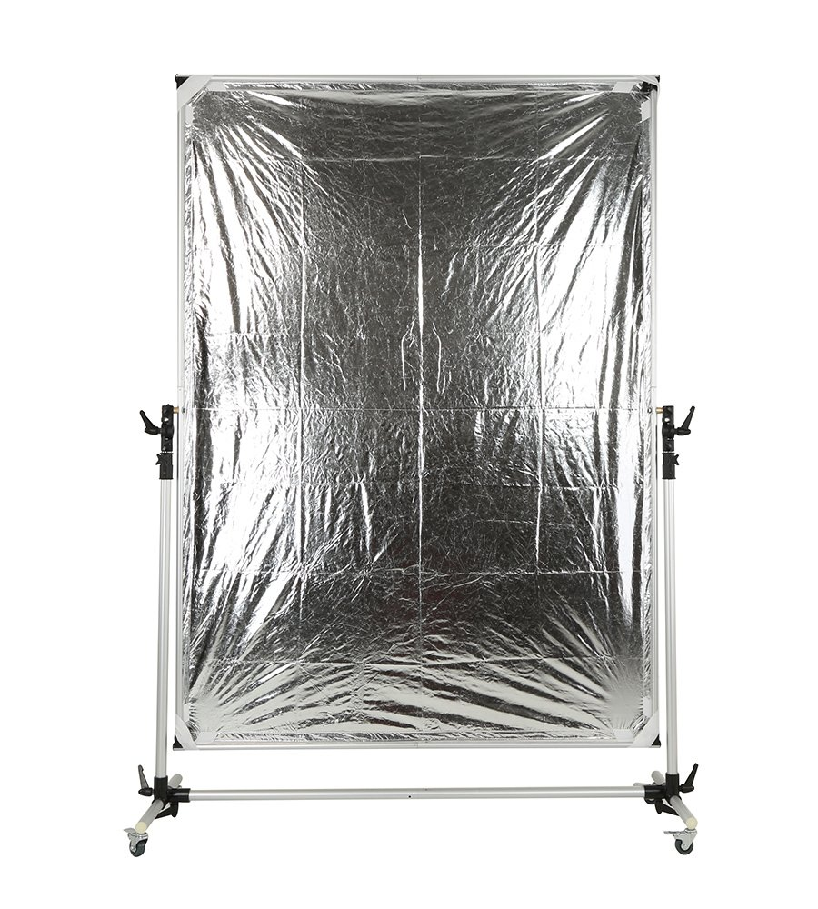 Falcon Eyes Pro Studio Solutions 150cm x 200cm (59in x 78.7in) Sun Scrim - Collapsible Frame Diffusion & Silver/Black Reflector Kit with Pulley can be moved Handle by OPENCLOUD (Image #8)