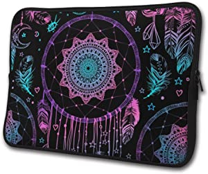 SWEET-YZ Laptop Sleeve Case Indian Talisman Dreamcatcher Feathers Notebook Computer Cover Bag Compatible 13-15 Inch Laptop