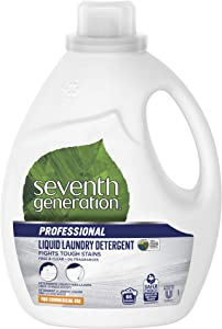 Seventh Generation Professional Liquid Laundry Detergent, Free & Clear, Hypoallergenic, Unfragranced, 100 fl oz (Pack of 4)