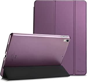 "ProCase iPad Air (3rd Gen) 10.5"" 2019 / iPad Pro 10.5"" 2017 Case, Ultra Slim Lightweight Stand Smart Case Shell with Translucent Frosted Back Cover for Apple iPad Air (3rd Gen) 10.5"" 2019 –Purple"
