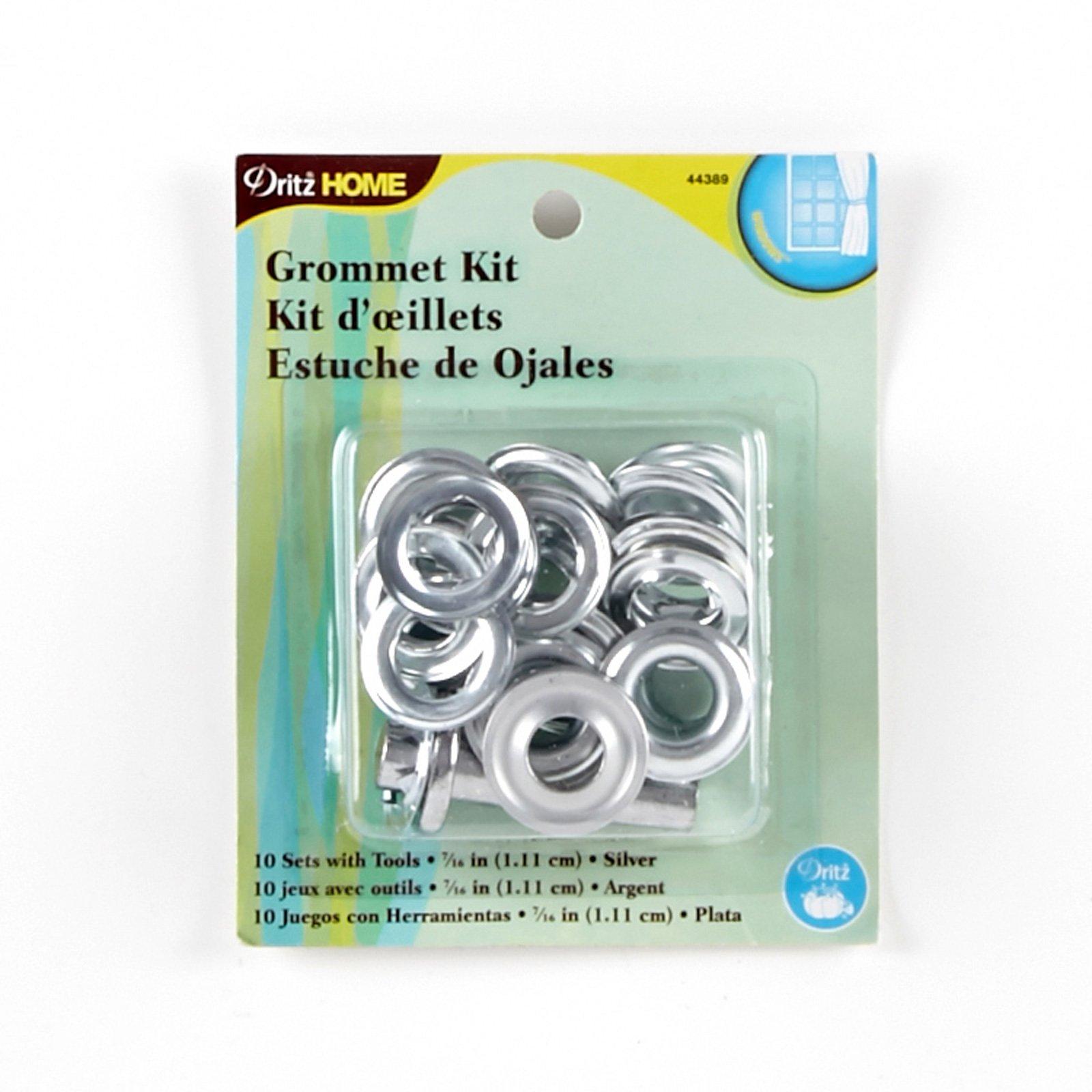 Notions Marketing Grommet Kit 7/16in w/Stud Setter, Silver