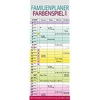 Familienplaner Farbenspiel 2019: Familienkalender für 4 Personen, bunt mit Ferienterminen, Vorschau bis März 2020 und nützlichen Zusatzinformationen.