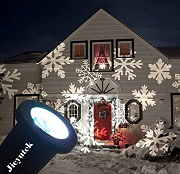 LED Moving Snowflake Proyector Luz, Jieyuteks Spotlight Luces ...