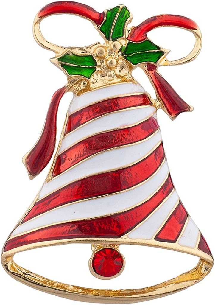 Lux Accessories Holiday Christmas Xmas Jingle Santa Brooch Pin Jewelry Gift