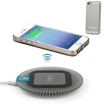 Antye Qi - Cargador inalámbrico para iPhone 5, 5S, SE, Incluye ...