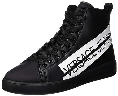 Versace Jeans Scarpe-Uomo, Baskets Hautes Homme, Noir (Nero E899 ... 533d529ca5a