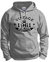 Birthday Gift Vintage 1961 Aged Perfectly Hoodie Sweatshirt