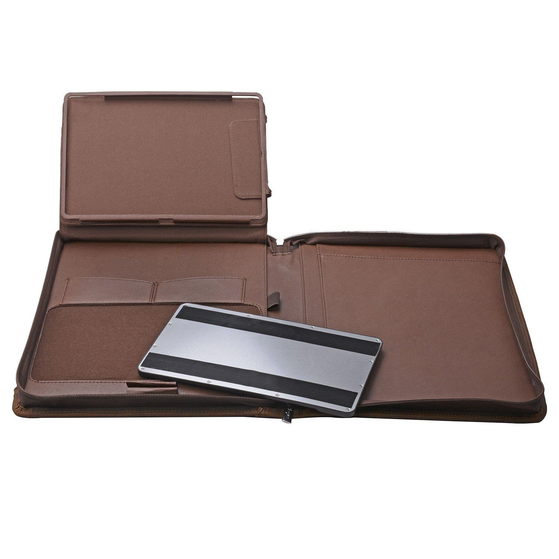 iPad Keyboard Portfolio, Executive Leather Padfolio Case with Bluetooth Keyboard for 10.5 inch iPad Pro