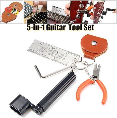 5 en 1 Accesorios de Guitarra Llave Hexagonal, Medidor de Altura ...