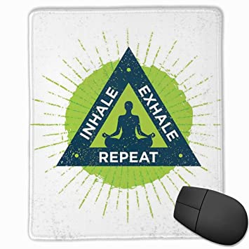 BBLUEEI Mouse Mat Stitched Edges, SPA Yoga Retreat Theme ...