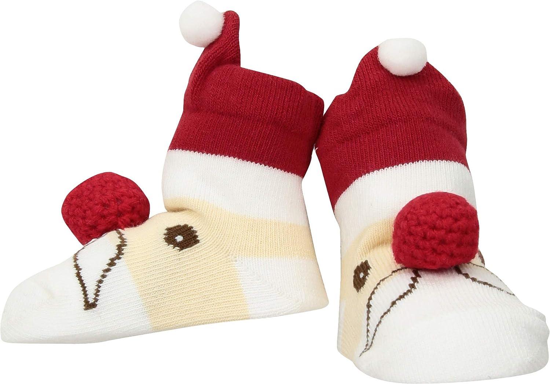 Mud Pie Unisex Santa Rattle Toe Socks