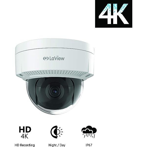 Amazon.com : LaView 4K (8MP) Camera, IP PoE Ultra-HD H.265+ ...