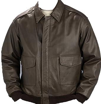 85d132465 Burk s Bay Men s Napa Leather Bomber Jacket at Amazon Men s Clothing ...