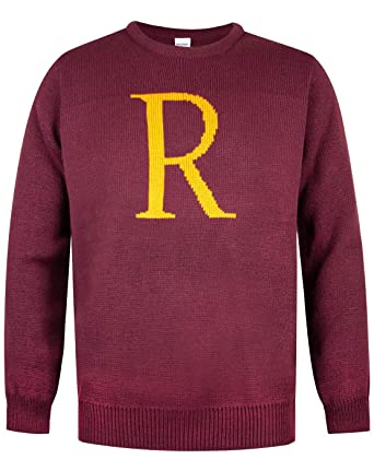 84dabaf37b1dd Harry Potter Ron Weasley R Letter Knitted Men s Jumper  Amazon.de ...