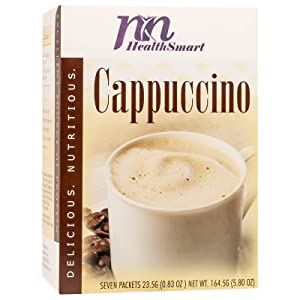 HealthSmart High Protein Cappuccino Hot Drink Mix, 15g Protein, Low Calorie, Low Carb, Low Sugar, Gluten Free, KETO Diet Friendly, Ideal Protein Compatible, 7 Count Box