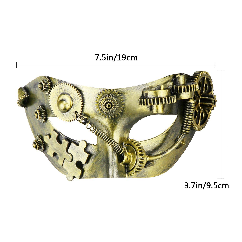 Coddsmz Masquerade Mask Steampunk Phantom of The Opera Mechanical Venetian Party Mask